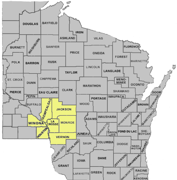 image of eastern Minnesota, western Wisconsin